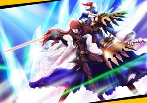 Rating: Safe Score: 8 Tags: bodysuit kirijou_mitsuru megaten persona persona_4:_the_ultimate_in_mayonaka_arena renya_(artist) sword User: animeprincess