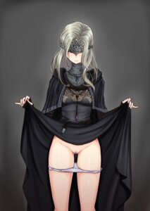 Rating: Explicit Score: 68 Tags: dark_souls dark_souls_3 dress fire_keeper pantsu panty_pull pussy pussy_juice skirt_lift uncensored User: Undead-Kun