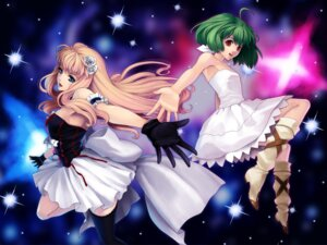 Rating: Safe Score: 21 Tags: kunishige_keiichi macross macross_frontier ranka_lee sheryl_nome User: cheese
