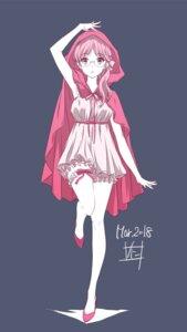 Rating: Safe Score: 27 Tags: bloomers dress garter heels megane nii_manabu User: saemonnokami