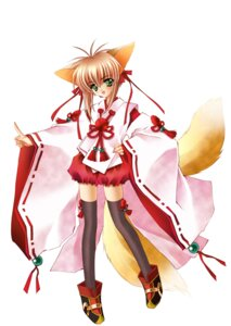 Rating: Safe Score: 5 Tags: animal_ears kimono meirin thighhighs yami_to_boushi_to_hon_no_tabibito User: jxh2154