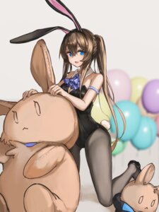 Rating: Safe Score: 19 Tags: amiya_(arknights) animal_ears arknights bunny_ears bunny_girl no_bra omuretu_(butterroru) pantyhose tail User: Mr_GT