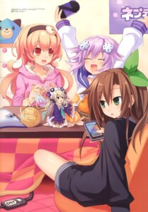 Rating: Safe Score: 34 Tags: choujigen_game_neptune compa histoire if_(choujigen_game_neptune) neptune tsunako User: Radioactive