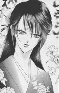 Rating: Safe Score: 3 Tags: kimono mogami_kyouko monochrome nakamura_yoshiki skip_beat User: charunetra