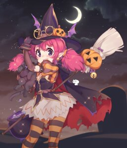 Rating: Safe Score: 16 Tags: cleavage halloween megane niniidawns pointy_ears thighhighs witch User: Mr_GT