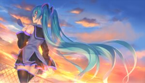 Rating: Safe Score: 46 Tags: hajime_kaname hatsune_miku seifuku thighhighs vocaloid User: Mr_GT