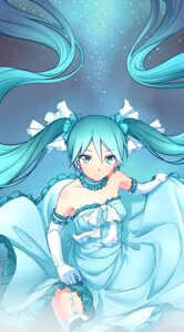 Rating: Safe Score: 68 Tags: dress hatsune_miku skirt_lift stockings thighhighs ttc vocaloid User: Mr_GT