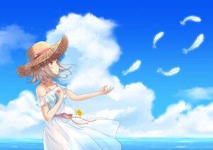 Rating: Questionable Score: 21 Tags: arata_(pixiv7724185) breast_hold dangan-ronpa dangan-ronpa_2 dress nanami_chiaki nopan see_through skirt_lift summer_dress User: yanis