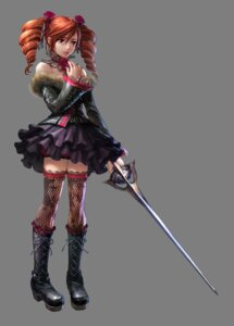 Rating: Safe Score: 23 Tags: amy_sorel dress fishnets gothic_lolita lolita_fashion soul_calibur soul_calibur_iv sword thighhighs transparent_png weapon User: MDGeist