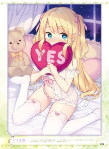 Rating: Questionable Score: 54 Tags: bekotarou cameltoe lingerie pantsu see_through thighhighs User: kiyoe