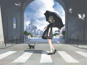 Rating: Safe Score: 23 Tags: dress heels nauimusuka neko umbrella User: RyuZU