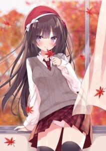 Rating: Questionable Score: 53 Tags: hoshi pantsu seifuku skirt_lift sweater thighhighs User: Twinsenzw