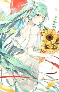 Rating: Safe Score: 22 Tags: buri_(retty9349) dress hatsune_miku skirt_lift summer_dress vocaloid User: Mr_GT