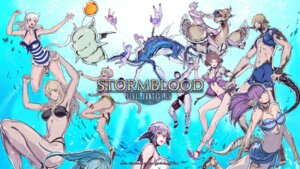 Rating: Questionable Score: 20 Tags: animal_ears bikini cleavage final_fantasy final_fantasy_xiv horns monster square_enix swimsuits tagme tail wallpaper User: ForteenF