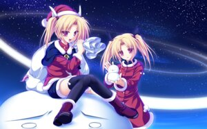 Rating: Safe Score: 16 Tags: christmas magus_tale nina_geminis rena_geminis tenmaso wallpaper whirlpool User: oopsfabc