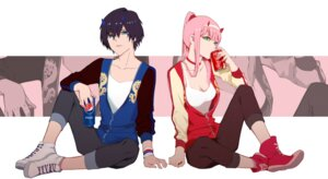 Rating: Safe Score: 20 Tags: chenaze57 cleavage darling_in_the_franxx hiro_(darling_in_the_franxx) horns zero_two_(darling_in_the_franxx) User: Spidey
