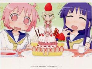 Rating: Safe Score: 9 Tags: dress endcard hinata_yukari ichii_yui kazuho nonohara_yuzuko seifuku yuyushiki User: edogawaconan
