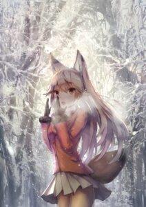 Rating: Safe Score: 66 Tags: animal_ears apple228 ezo_red_fox kemono_friends kitsune pantyhose tail wallpaper User: RyuZU