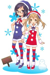 Rating: Safe Score: 4 Tags: christmas megane thighhighs usabutapon User: Nekotsúh