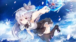 Rating: Safe Score: 86 Tags: juuoumujin_no_fafnir nopan seifuku skirt_lift thighhighs weapon yuugen User: WcDuck