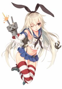 Rating: Safe Score: 62 Tags: kantai_collection pantsu rensouhou-chan shimakaze_(kancolle) takanashie thighhighs User: fairyren