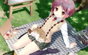 Rating: Safe Score: 34 Tags: akino_momiji b.k neko sakura_musubi seifuku wallpaper User: androgyne