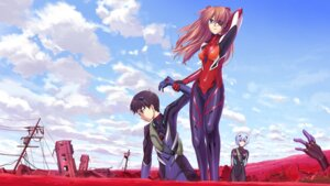 Rating: Safe Score: 28 Tags: ayanami_rei bodysuit eyepatch ikari_shinji neon_genesis_evangelion shirakawa_mayo souryuu_asuka_langley wallpaper User: animeprincess