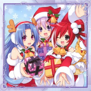 Rating: Safe Score: 21 Tags: 5pb._(choujigen_game_neptune) choujigen_game_neptune christmas neptune red_(choujigen_game_neptune) tsunako User: Radioactive