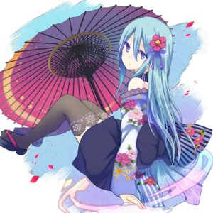 Rating: Safe Score: 80 Tags: gucchiann kimono thighhighs umbrella User: Mr_GT