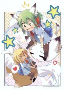 Rating: Safe Score: 9 Tags: animal_ears bunny_ears greenwood midori mizoguchi_keiji nekomimi User: midzki