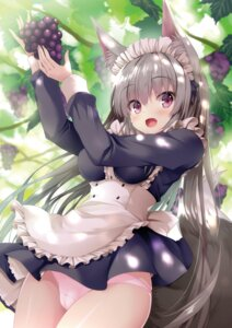 Rating: Questionable Score: 9 Tags: animal_ears cameltoe digital_version kitsune maid pantsu tateha User: Twinsenzw
