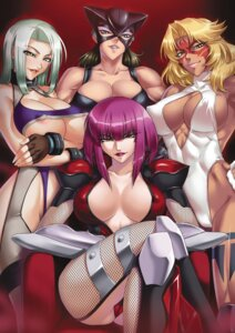 Rating: Questionable Score: 73 Tags: animal_ears areola armor bodysuit breast_hold cleavage erect_nipples fishnets fukumen_sugata_no_onna_senshi kagami leotard lilith_soft no_bra nopan oboro_(taimanin_asagi) open_shirt power_lady snake_lady stockings taimanin_asagi thighhighs underboob User: limalama