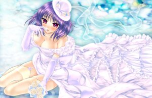 Rating: Safe Score: 12 Tags: chourui cleavage dress nagae_iku stockings thighhighs touhou wedding_dress User: Mr_GT