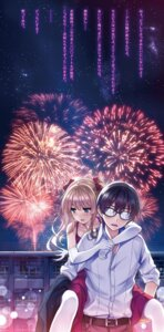 Rating: Safe Score: 34 Tags: aki_tomoya dress megane misaki_kurehito pantyhose saenai_heroine_no_sodatekata sawamura_spencer_eriri User: kiyoe