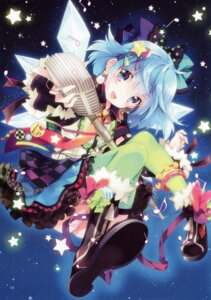 Rating: Safe Score: 66 Tags: cirno dress mottsun thighhighs touhou User: charunetra