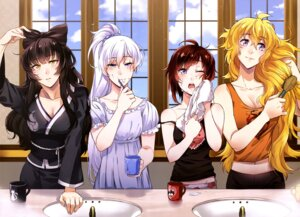 Rating: Safe Score: 45 Tags: blake_belladonna cleavage ruby_rose rwby weiss_schnee wet yang_xiao_long User: drop