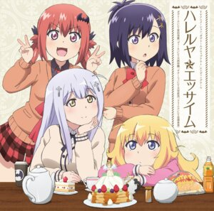 Rating: Safe Score: 44 Tags: disc_cover gabriel_dropout kurumizawa_satanichia_mcdowell seifuku shiraha_raphiel_ainsworth sweater tenma_gabriel_white tsukinose_vignette_april User: LiHaonan