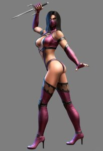 Rating: Questionable Score: 14 Tags: ass bikini_armor cg cleavage fishnets heels leotard mileena mortal_kombat mortal_kombat_(2011) ninja thighhighs transparent_png weapon User: Yokaiou