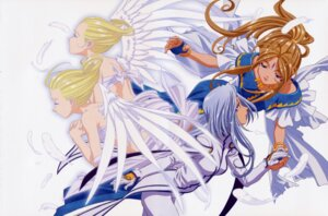 Rating: Safe Score: 15 Tags: ah_my_goddess angel belldandy wings User: Radioactive