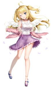 Rating: Safe Score: 33 Tags: aogiri_koukou_game_club kuria_(clear_trip_second) minazuki_natsuki skirt_lift wings User: Dreista