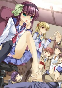 Rating: Explicit Score: 38 Tags: angel_beats! feet footjob hinata_(angel_beats!) matsushita noda onaka_sukisuki ooyama pantsu seifuku tk_(angel_beats!) yui_(angel_beats!) yurippe yusa User: Brufh