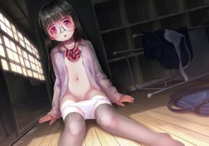 Rating: Explicit Score: 68 Tags: cum loli megane nipples no_bra open_shirt panty_pull see_through seifuku thighhighs yuuro User: blooregardo