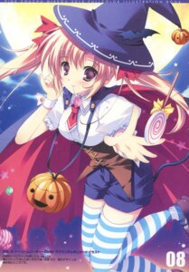 Rating: Safe Score: 31 Tags: halloween mikeou paper_texture pink_chuchu thighhighs witch User: fireattack