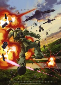 Rating: Safe Score: 5 Tags: calendar gundam kawazoe_masakazu mecha mobile_suit_gundam ms-06_zaku_ii User: Aurelia