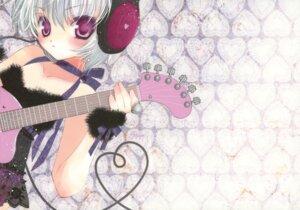 Rating: Questionable Score: 6 Tags: detexted fixed guitar hato_no_tamago headphones rami User: Tsumikiria