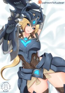 Rating: Questionable Score: 19 Tags: armor cameltoe league_of_legends leotard shyvana signed thighhighs tofuubear User: charunetra
