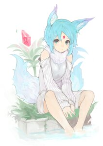 Rating: Safe Score: 34 Tags: animal_ears harutask sweater tail wet User: nphuongsun93
