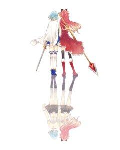 Rating: Safe Score: 14 Tags: juuichi miki_sayaka puella_magi_madoka_magica sakura_kyouko seifuku sword thighhighs User: Radioactive