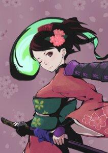 Rating: Safe Score: 24 Tags: ipponshimeji kimono momohime_(muramasa) oboro_muramasa sword User: Radioactive