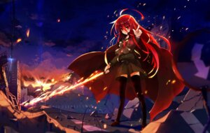 Rating: Safe Score: 35 Tags: baisi_shaonian jpeg_artifacts seifuku shakugan_no_shana shana sword thighhighs User: animeprincess